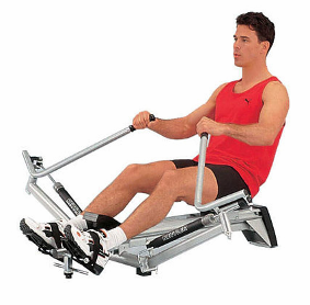 German Quality Kettler Rowing Machine - The Kettler Kadett Outrigger Rower Special Design To Simulate Rowing On Water