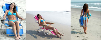 Ostrich 3N1 - Beach Chair, Beach Lounger!