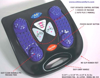 XTC Foot & Leg Massager Provides Strong Percussive Stroke Foot Massage