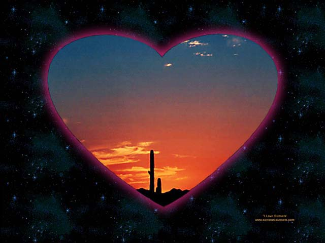 I Love Sunsets Tucson Arizona Wallpaper 640 x 480