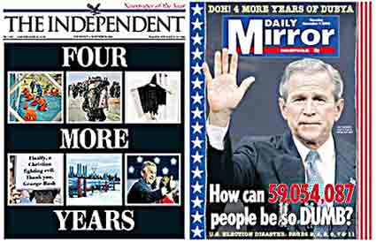 British media reaction to Bush win