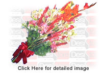 Bouquet of 25-30 Seasonal Flowers with green fillers