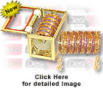 'Bangles Kashish Purple and Gold