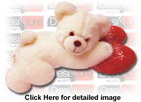 Teddy with Heart Cushion
