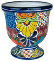 Mexican Talavera Goblet Flower Pot