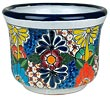 Mexican Talavera Squash Flower Pot