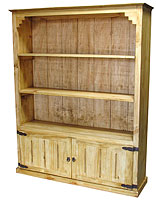 rustic pine bookcase or large screen tv cabinet