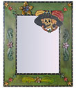 Mexican Folk Art Day of the Dead Mirror