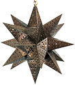 Punched Tin Mexican Hanging Star Light