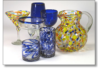 mexican bubble glass mexican glassware our collection of authentic handblown bubble hand blown glass