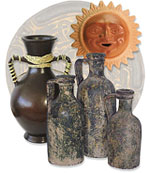 Mexican Aged Clay and Terra Cotta Pottery
