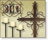 Wrought Iron Rustic Home Accents