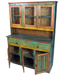painted wood china cabinet