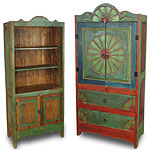 Mexican Painted Wood Rustic Furniture