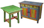 Painted Wood Rustic Furniture