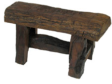 Rustic furniture for cabins and lodges - Mesquite Log Bench
