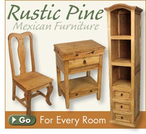 Mexican Furniture - Rustic Furniture - Southwest Style ...