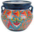 Mexican Talavera Pottery Flower Pot