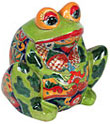 Mexican Talavera Frog Pot