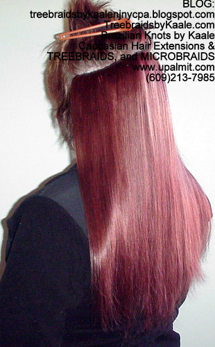 Red Remy Hair Tracks 68