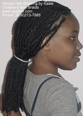 Box braids- side.