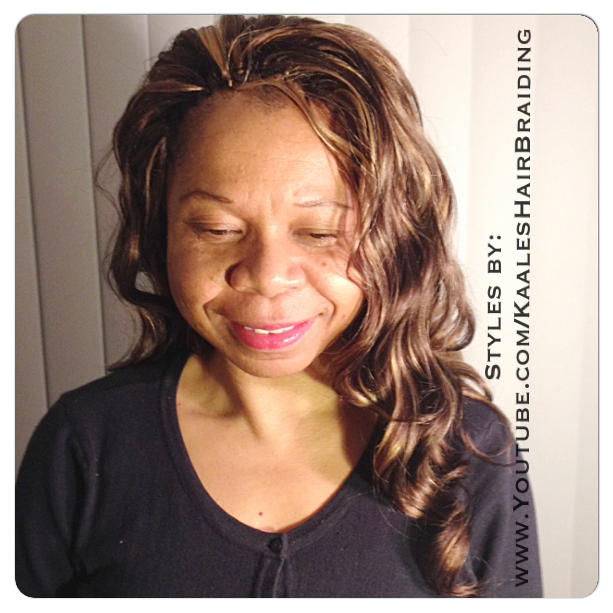 Tree Braids by Kaale- invisible hairline cornrow treebraids Small/SmallMedium size, body wave hair.