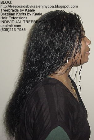 Wet and wavy Individual Treebraids, Right121.
