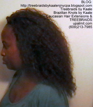 Tree Braids- Brazilian Curly human hair Left2230.