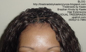 Wet and wavy Individual Treebraids, Left56.