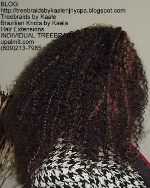 Kinky curly Treebraids, Nic Right130.