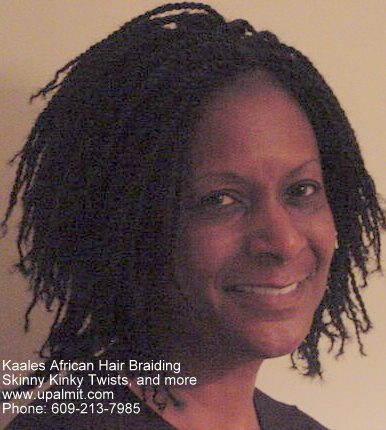 Skinny, short kinky twists Kaales African hair braiding (609) 213-7985.
