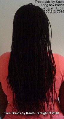 Box braids, Back 4.