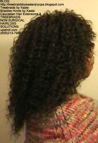 Tree Braids- Cornrows with fluffy Kinky Curly human hair Right2318.