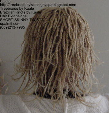 Short kinky twists with Kinky Bulk R201.