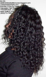 Tree Braids by Kaale, individual treebraids with deep bulk hair Fr2 Left.