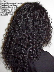 Tree Braids by Kaale, individual treebraids with deep bulk hair Fr2 Right.