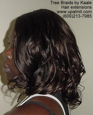Curly hair extensions- left view8.