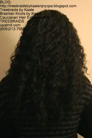 Tree Braids- Cornrows with Deep Bulk human hair Back2268.