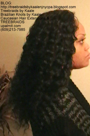 Tree Braids- Cornrows with Deep Bulk human hair Right2270.