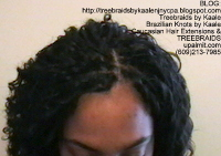 Tree Braids- Cornrows with Kaale brand Wavy human hair, Top2394.
