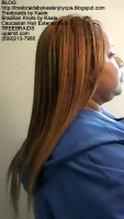 Tree Braids- Cornrows with straight human hair Right2397.
