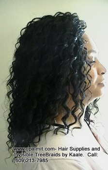 Tree Braids- Cornrows with Wavy human hair, Right2361.