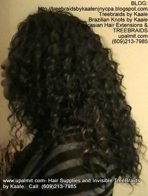 Tree Braids- Cornrows with Wavy human hair Left2305.