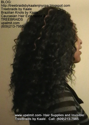 Tree Braids- Cornrows with Wavy human hair Right2306.