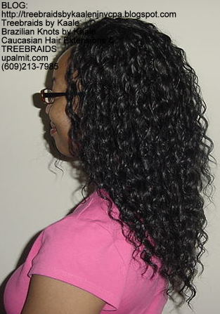 Tree Braids using KAALE Brand Wavy human hair Left312.