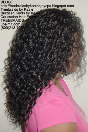 Tree Braids using KAALE Brand Wavy human hair Right311.