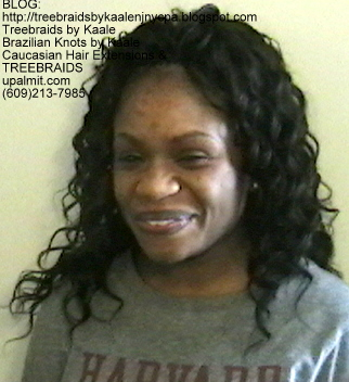 Tree Braids Wavy human hair Front345.