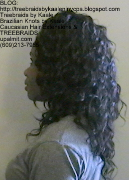 Tree Braids Wavy human hair Left343.