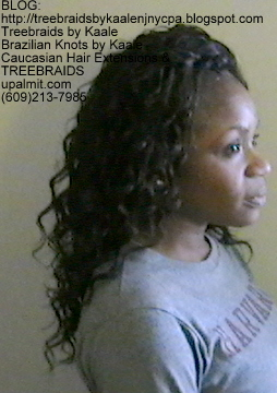 Tree Braids Wavy human hair Right344.