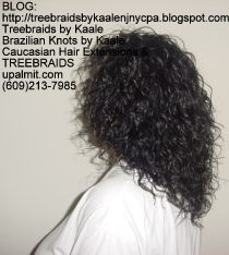 Tree Braids with Wet n Wavy KAALE Brand human hair Right2218.